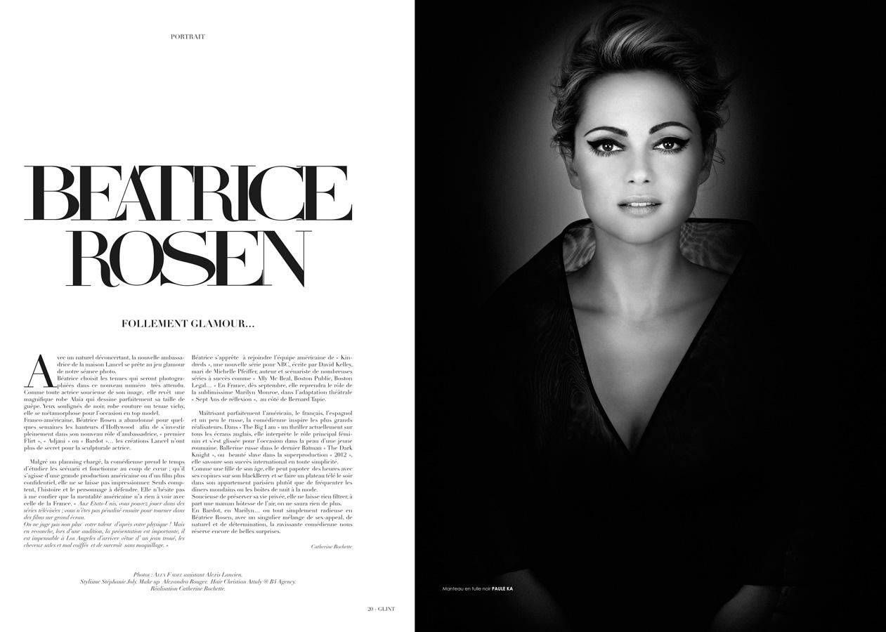 prise de vue mode et beauté paris avec Béatrice Rozen et lancel pour le Glint magazine